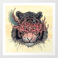 Masked Tiger Art Print