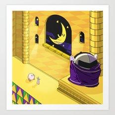 Kirby Vs Metaknight Art Print
