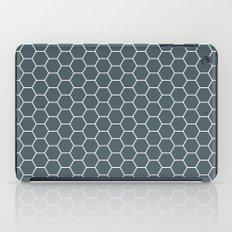 Bluish Grey Hex iPad Case