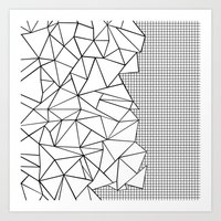 Abstraction Outline Grid… Art Print