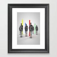 Static Girls Framed Art Print