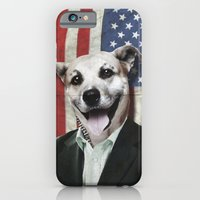 iPhone & iPod Case featuring Patriotic Dog | USA by Lain de Macias