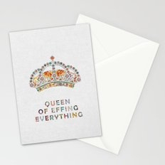her daily motivation Stationery Cards
