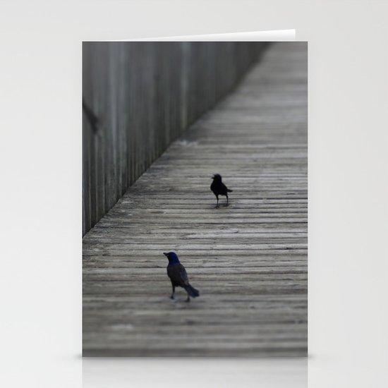 Black Birds Stationery Card