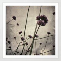 Wild flowers in the city Art Print