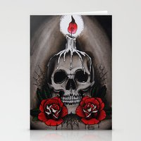 Voodoo Skull And Roses W… Stationery Cards