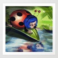 Bug Girls: Curious Lady … Art Print