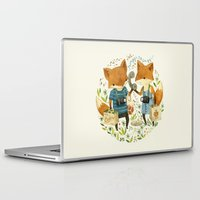 friends Laptop & iPad Skins featuring Fox Friends by Teagan White