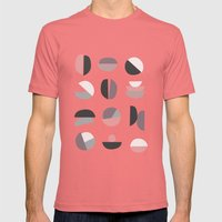 Pastel Geometry 4 Mens Fitted Tee Pomegranate SMALL