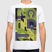 London Mens Fitted Tee Ash Grey SMALL