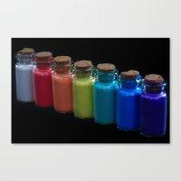 Powder Paint Pigments Canvas Print