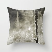 Autumn Sepia Throw Pillow