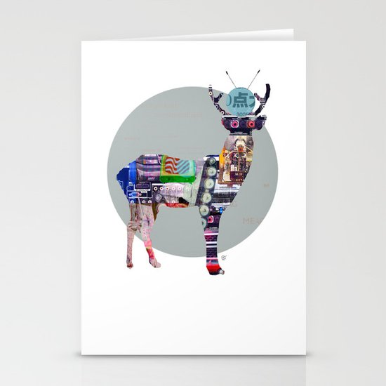 Deer Electric Stationery Card