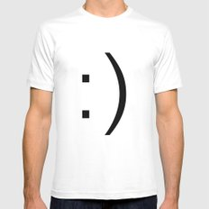 smiley Mens Fitted Tee SMALL White
