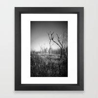 standing alone. Framed Art Print