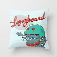 Longboard Throw Pillow