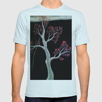 Cherry Blossom Mens Fitted Tee Light Blue SMALL