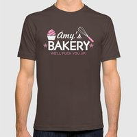 Amy's Bakery Mens Fitted Tee Brown SMALL