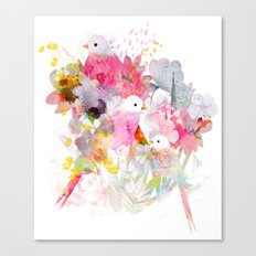 The Magical World of Birds Canvas Print
