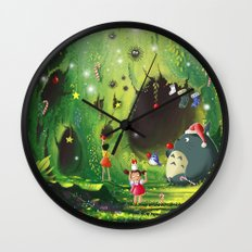 Totoro Christmas Wall Clock