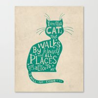 'The Cat That Walked By … Canvas Print