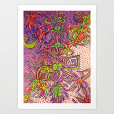 Eyescend Art Print