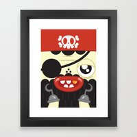 Pirate In Love Framed Art Print