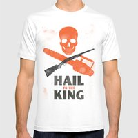 Hail to the King! Mens Fitted Tee White SMALL