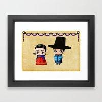 Korean Chibis Framed Art Print