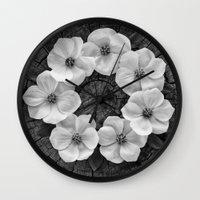 Flower circle Wall Clock