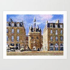 Bordeaux - free interpretation Art Print