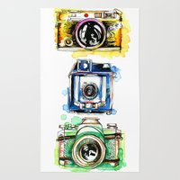Vintage Cameras Rug