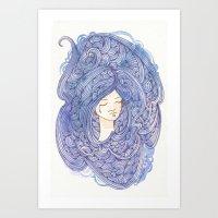 Drowning Girl Art Print