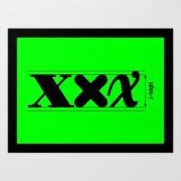 XXX-height. Art Print