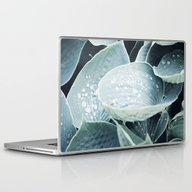 Botanic Green Leaf Laptop & iPad Skin