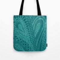 Sketchy Geometric Waves Tote Bag