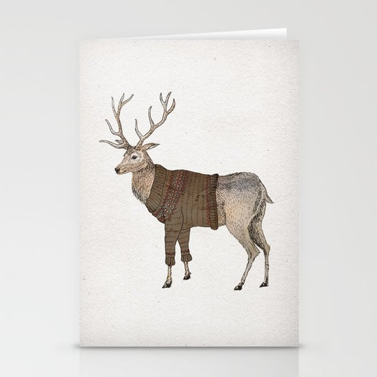 Stag Stationery Card