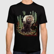 AHANU Mens Fitted Tee Black SMALL