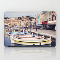 Boats in Cassis Harbor iPad Case