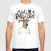 Evicted Deer Mens Fitted Tee White SMALL