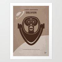 No217 My Oblivion minimal movie poster Art Print