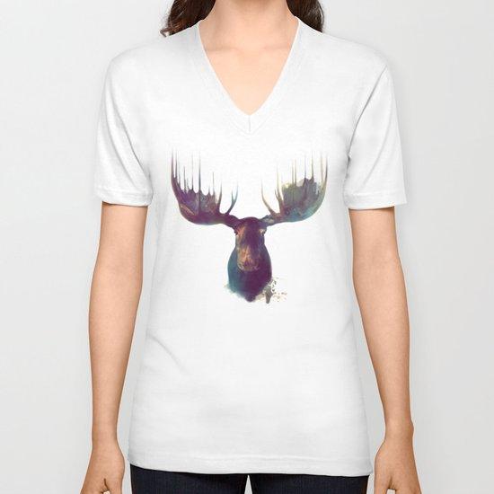Moose V-neck T-shirt