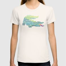 Crocodile in Different Languages Womens Fitted Tee Natural SMALL