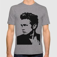 James Dean Mens Fitted Tee Athletic Grey SMALL