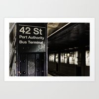 42nd Street Subway Stop Art Print