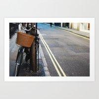 Lonely Bike Art Print