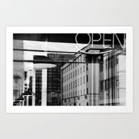 Open for Business on Route 66 Art Print