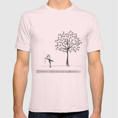 more fish in the tree Mens Fitted Tee Light Pink SMALL