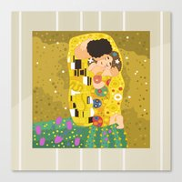The Kiss (Lovers) by Gustav Klimt  Canvas Print