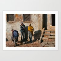 Three Men Art Print